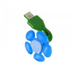 Diffuseur d'huiles essentielles FLEUR USB BLEUE - DIRECT NATURE